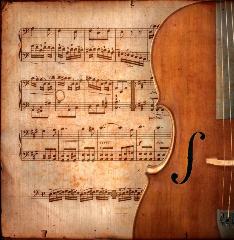 チェロアンサンブルの楽譜